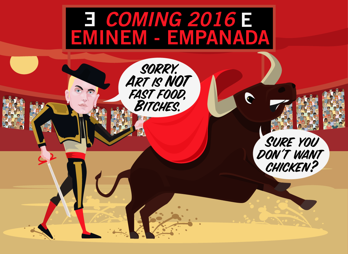 Is Eminem going to name his next album Empanada?